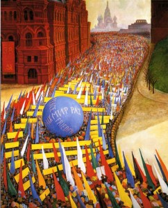 May Day Procession in Moscow, 1956 - Diego Rivera
