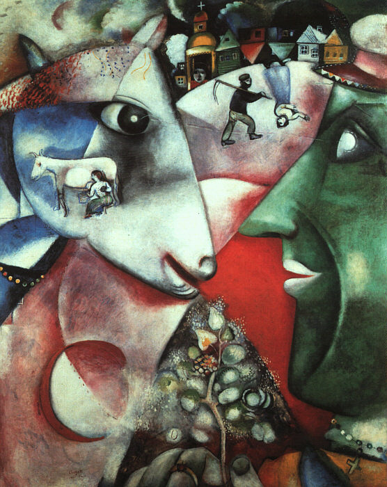 I-and-the-Village - Marc Chagall 1911