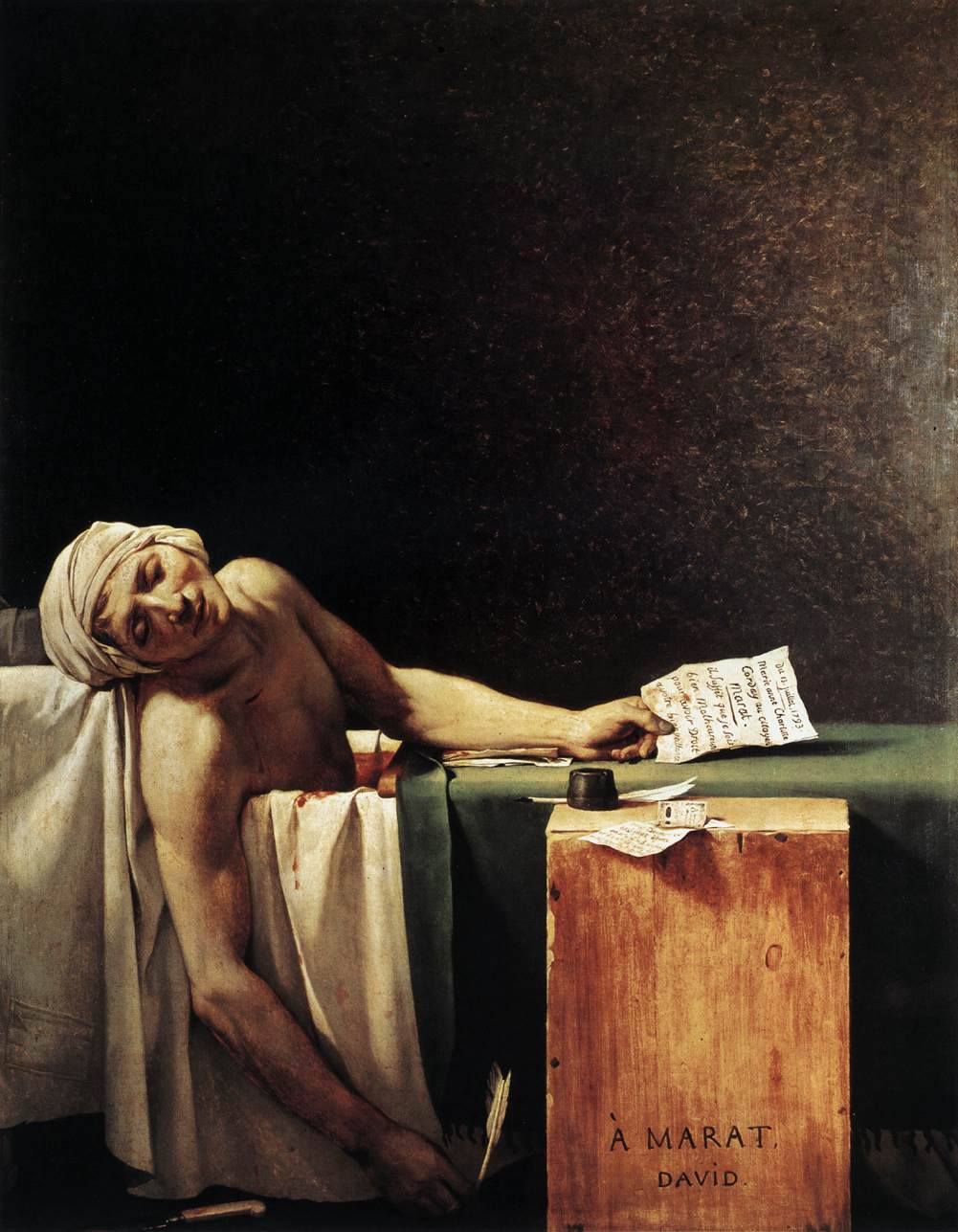 Jacques-Louis David - Death of Marat -1793