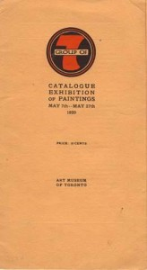 Group of Seven Exhibition Catalogue -1920 Art Gallery of Ontario (Art Museum of Toronto)