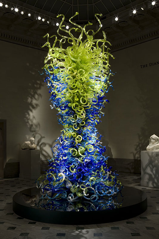 Dale Chihuly - Sea Blue and Green Tower