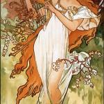 Alphonse Mucha - Spring