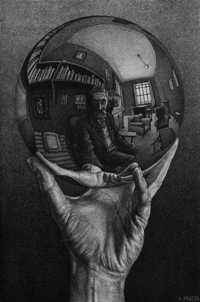 M.C. Escher - Hand With Reflecting Sphere
