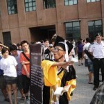 Protest at the opening ceremony of the Beijing 798 Biennale