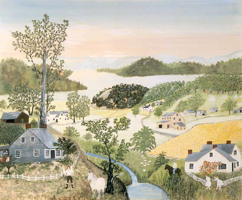 A Beautiful World - Anna-Mary-Robertson (Grandma) Moses 1948