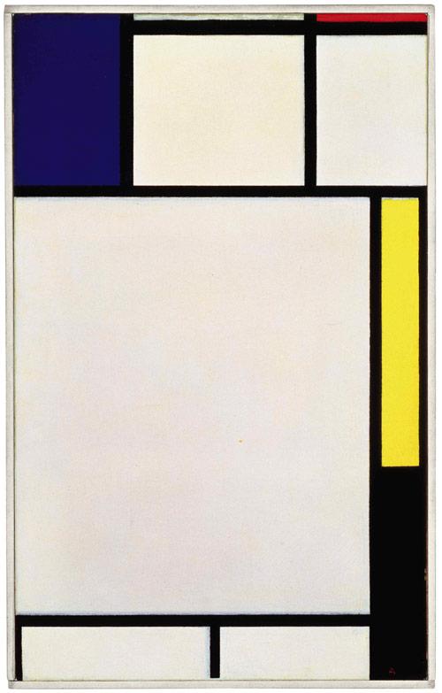 Composition-avec-bleu-rouge-jaune-et-noir-Piet-Mondrian-1922 - art facts