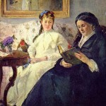 he Mother and Sister of the Artist Berthe_Morisot_1869-70