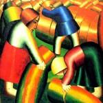 Taking-in-the-Rye---Kazimir-Malevich---1911