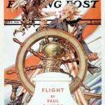 Saturday Evening Post - J.C. Leyendecker Uncle Sam at the Helm July 4, 1936