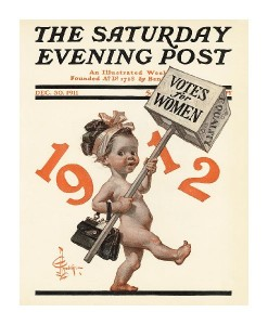 New Years Baby 1912 - Saturday Evening Post-J.C. Leyendecker