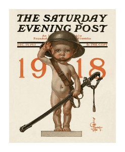 New Years Baby 1918 - Saturday Evening Post-J.C. Leyendecker