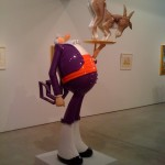 Dimaond in a Goat's Ass 9' tall fiberglass resin and steel-Robert Williams