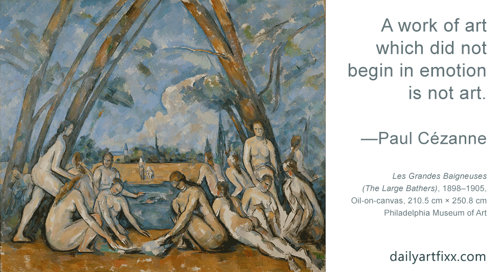 cezanne-quote The Bathers (French: Les Grandes Baigneuses)