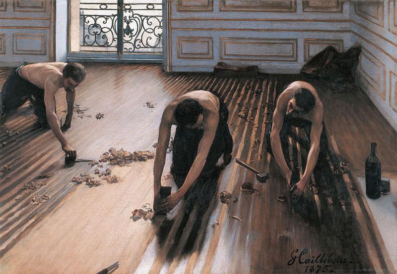 Gustave Caillebotte The-Floor-Scrapers-Les-raboteurs-de-parquet-1875